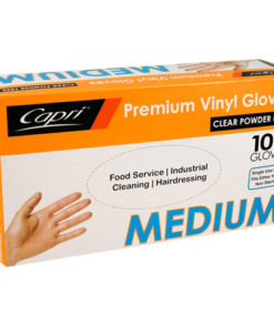 Capri vinyl clear powder freegloves