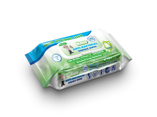 Bastion Nano Wipes Pouch 80 wipes 75% alcohol 80pk