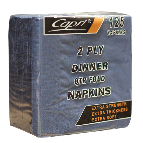 Capri Dinner Napkins Blue