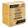 Capri 2ply dinner napkins gold