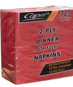 Capri dinner napkins red