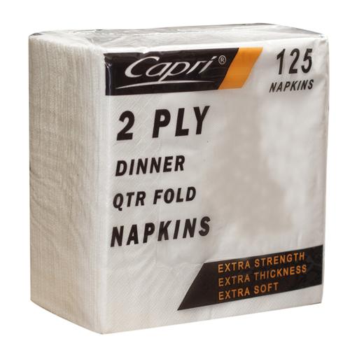 Capri white dinner napkins