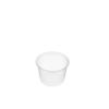 Round clear plastic containers 100ml 50 per sleeve