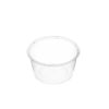 Round clear plastic containers 440ml 50 per sleeve