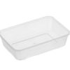 Rectangle clear plastic containers 500ml  50 per sleeve