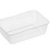 Rectangle clear plastic containers 650ml 50 per sleeve