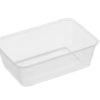 Rectangle clear plastic containers 700ml 50 per sleeve