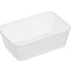 Rectangle clear plastic containers 750ml 50 per sleeve