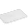 Rectangle clear plastic lids 500-1000ml 50 per sleeve